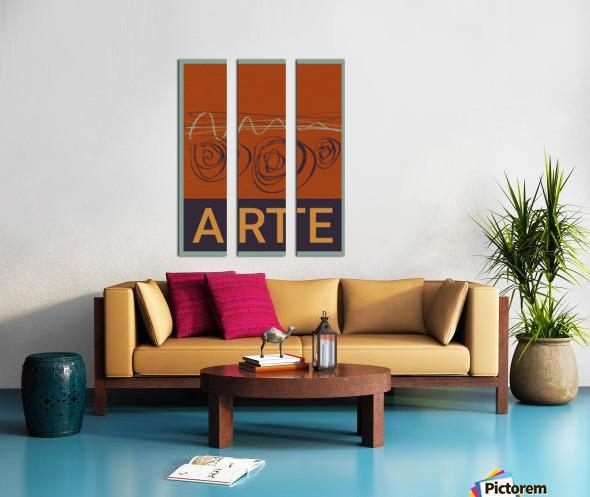 ARTE -7  Split Canvas print