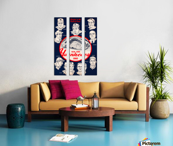 1960 New York Yankees In The Hall Of Fame Art Split Canvas print