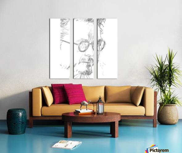 Robert Downy Jr. - Celebrity Pencil Art Toile Multi-Panneaux