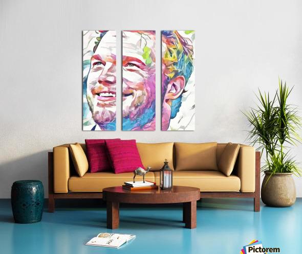 Chris Pratt - Celebrity Abstract Art Toile Multi-Panneaux