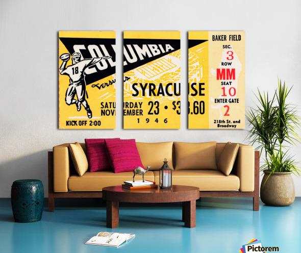 1946 columbia syracuse football ticket stub art number 18 jersey Split Canvas print