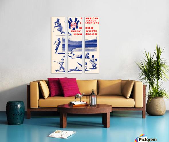 1964 new york yankees american league champions poster Split Canvas print