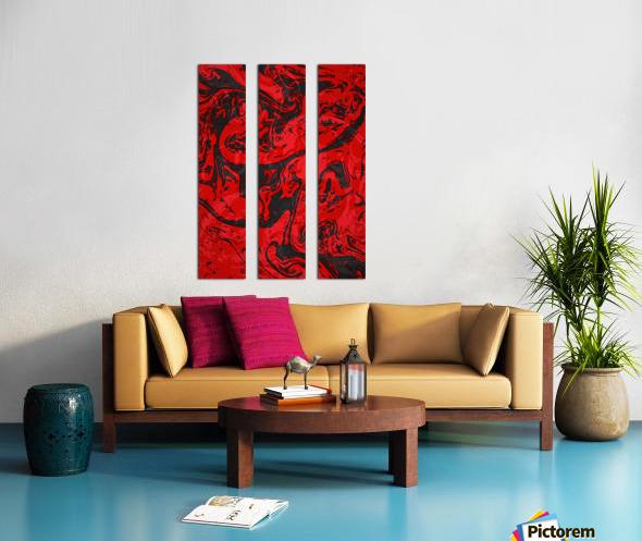 Black & Red Marble II Split Canvas print