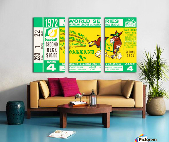 1972 world series oakland athletics Split Canvas print