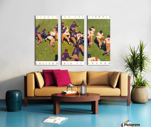 1927 cal stanford big game art vintage college football Split Canvas print