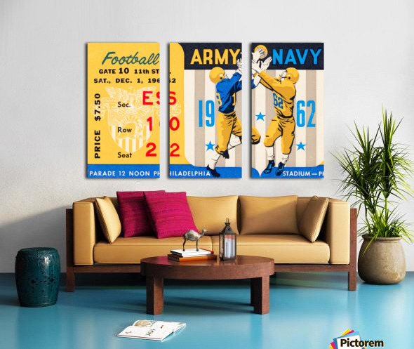 1962_Vintage College Football_Army vs. Navy_Municipal Stadium_ Split Canvas print