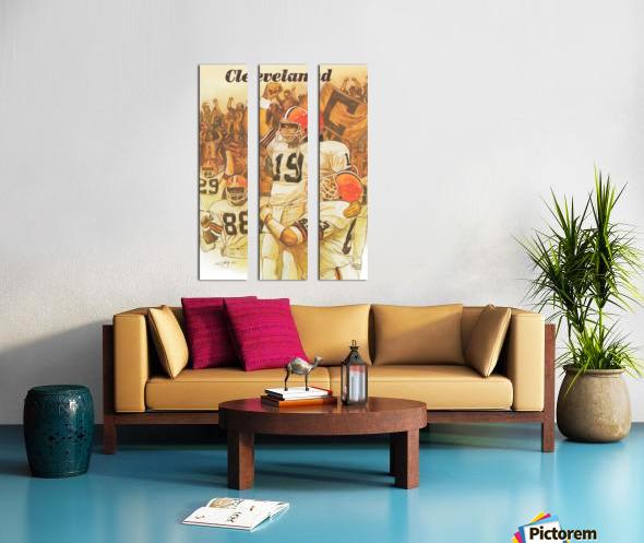 vintage cleveland browns nfl art poster Split Canvas print