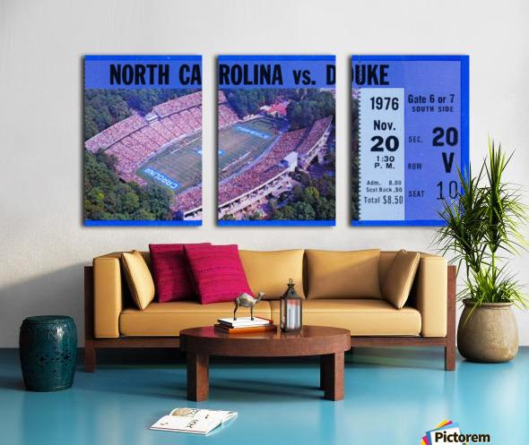 1976 duke north carolina vintage college football ticket art for the wall Split Canvas print