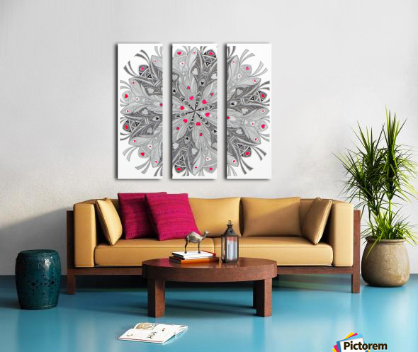 flower of hearts Split Canvas print
