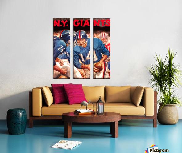vintage new york giants nfl art poster Split Canvas print