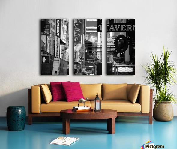 Bustle 2 B&W Split Canvas print