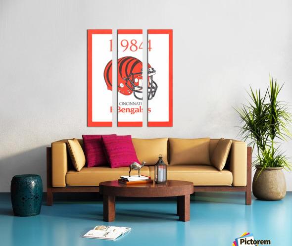 1984 cincinnati bengals retro helmet poster Split Canvas print