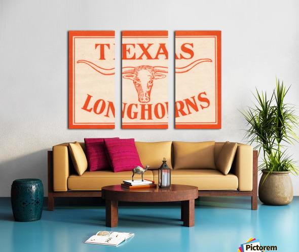 vintage texas longhorns metal sign best college signs Split Canvas print