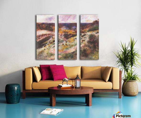 Landscape in Wargemont by Renoir Split Canvas print