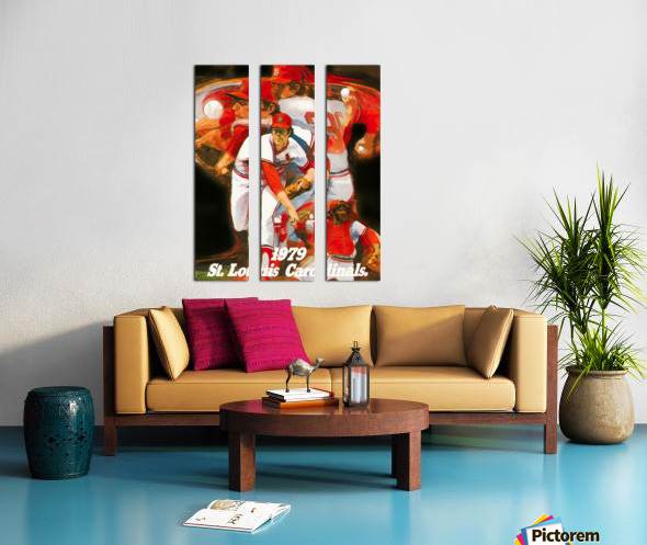 1979 st louis cardinals retro baseball poster Split Canvas print