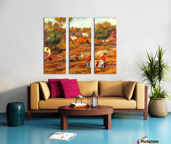 Landscape with Cagnes Split Canvas print