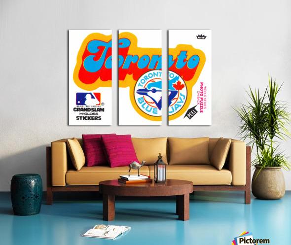 1978 toronto blue jays fleer decal baseball art reproduction poster Split Canvas print