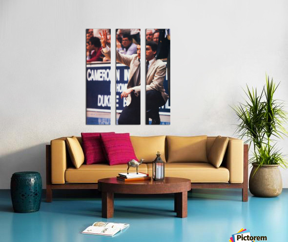 college basketball art coach k duke university basketball poster Split Canvas print