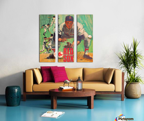 vintage boston red sox best metal sports signs for the garage Split Canvas print