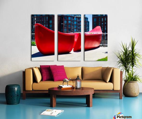 Red Canoe Split Canvas print