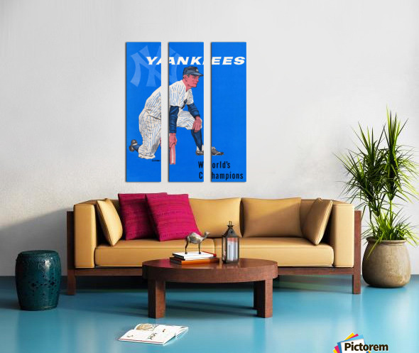 1958 New York Yankees Vintage Baseball Art Split Canvas print