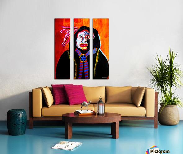 Masked Indian Split Canvas print
