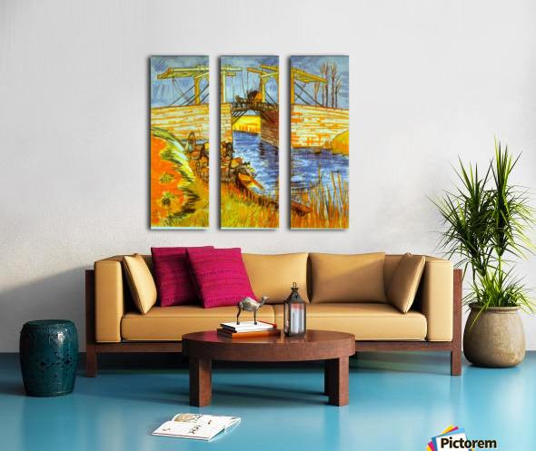 Langlois by Van Gogh Split Canvas print