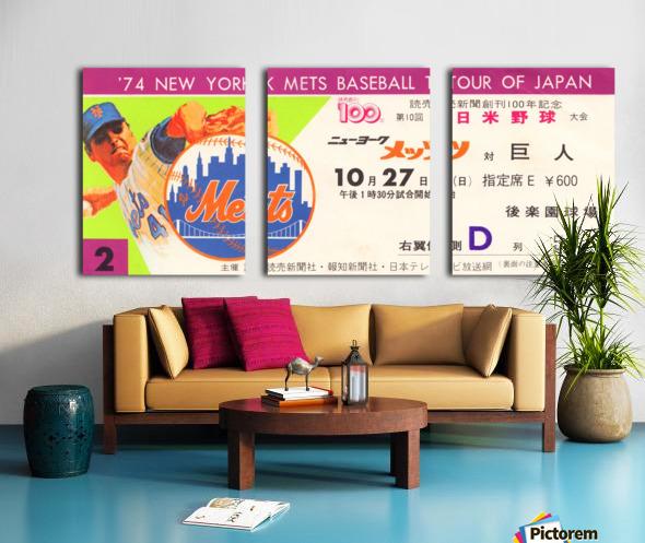1974 new york mets baseball tour of japan korakuen stadium tokyo Split Canvas print