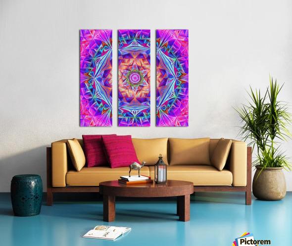 Sacred Geometry Mandala Handdrawing Split Canvas print