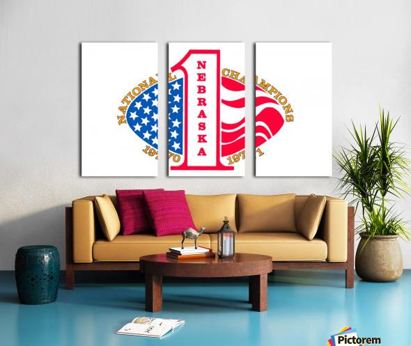 1971 nebraska cornhuskers football national champions poster Split Canvas print
