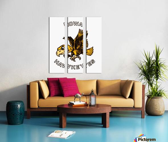 vintage iowa hawkeyes wood signs college mascot art Split Canvas print