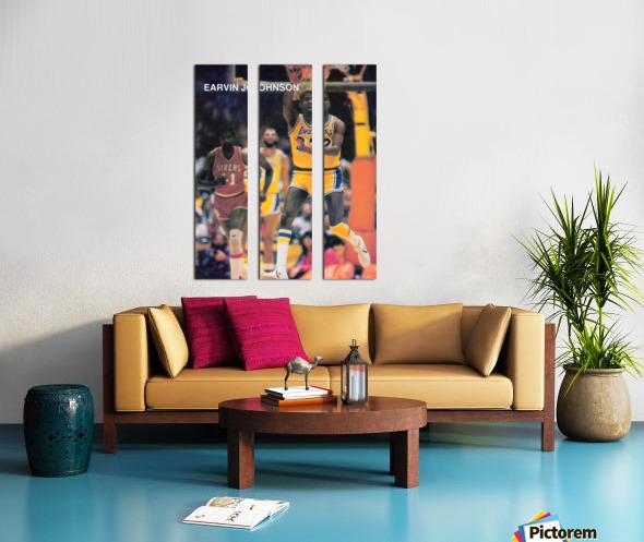 1983 Magic Johnson LA Lakers Retro Poster Split Canvas print