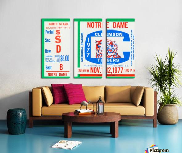 1977 Notre Dame vs. Clemson Split Canvas print