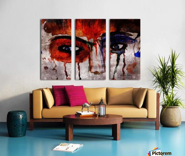 Life through her eyes Split Canvas print