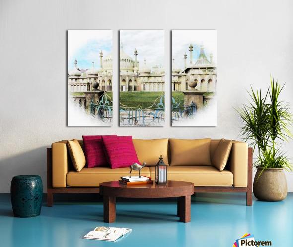 Brighton Pavilion Street View Split Canvas print