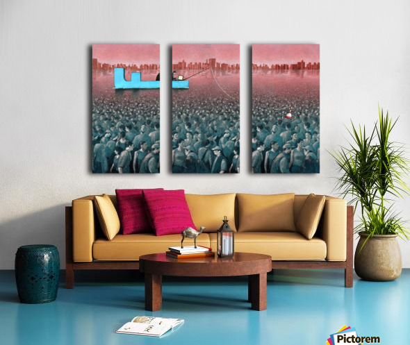 fishing Split Canvas print