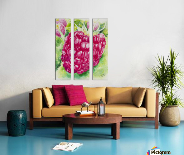 Summer Flavor: Raspberry I Split Canvas print