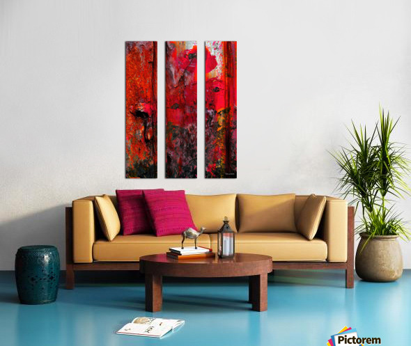 Dont touch the flowers or theyll die Split Canvas print
