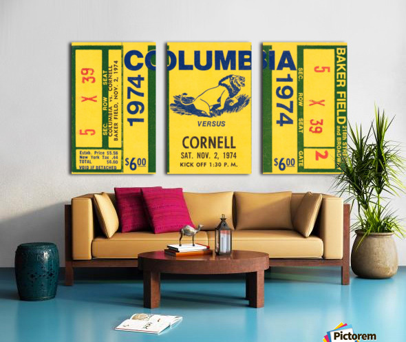 1974 Cornell vs. Columbia Split Canvas print