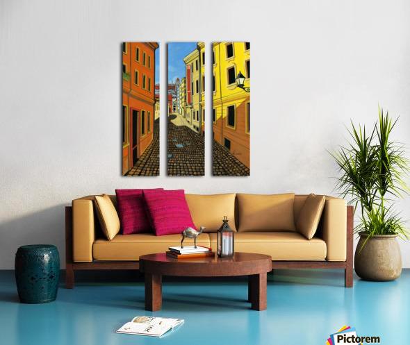 Colours of Europe Split Canvas print