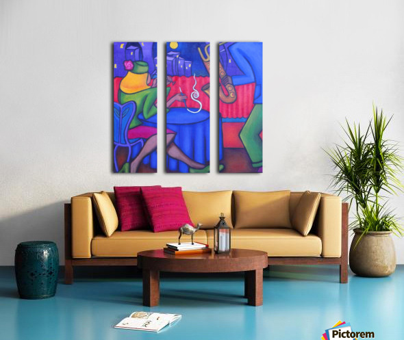 Velvet Vibe Split Canvas print