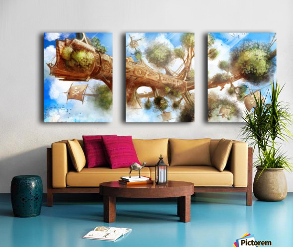 Tree Ship Split Canvas print