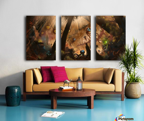 First Contact Split Canvas print