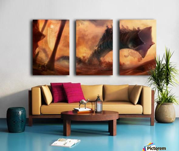 Dune World Split Canvas print