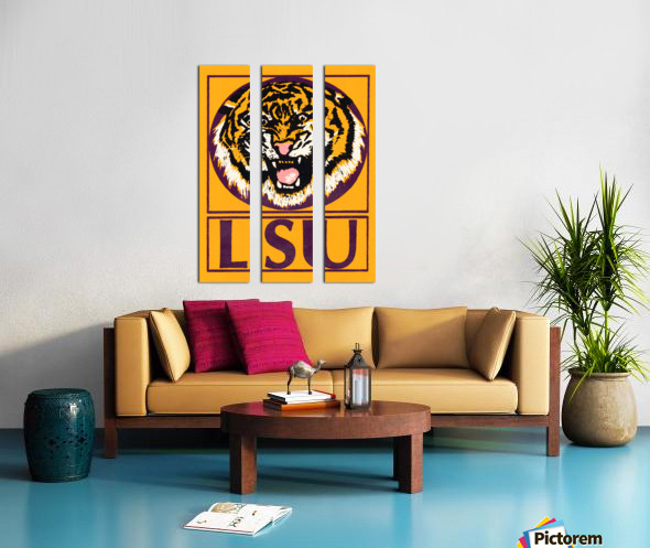 lsu tigers retro poster Split Canvas print
