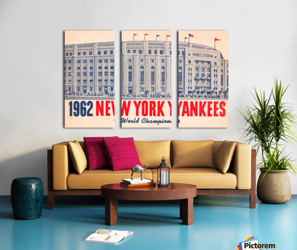 1962 new york yankees world champions Split Canvas print