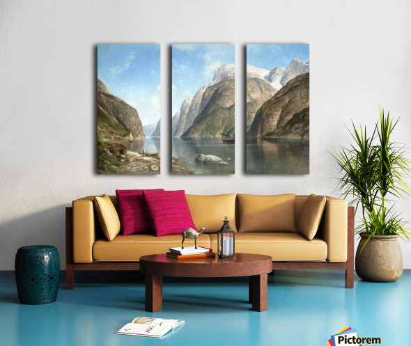 View of a Fjord Split Canvas print