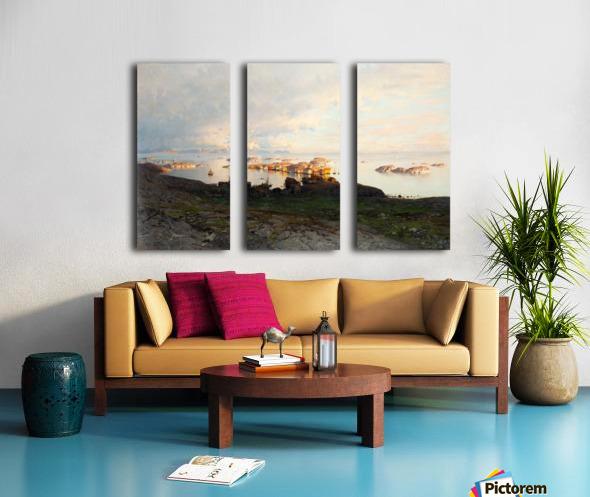 Summer night in Lofoten Split Canvas print