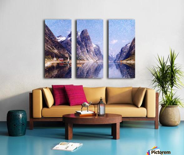 A Norwegian Fjord Scene Split Canvas print