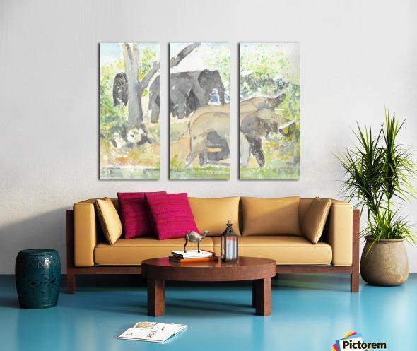 African Elephants 1 Split Canvas print